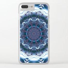 Snow Mandala Clear iPhone Case
