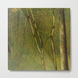 Maidenhair, Aspen, Ginkgo Biloba, Birch Tree Forest landscape painting by Georges Seurat  Metal Print