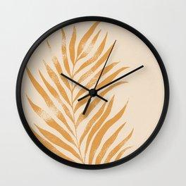 Botanical Tropical Branch 01 - Marigold & Buttercream Wall Clock