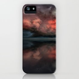 Red cloud reflect iPhone Case