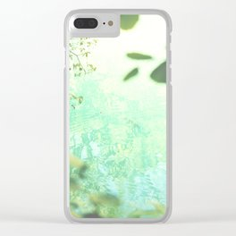 Green softness No1 Clear iPhone Case