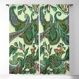 Eleganza Paisley Floral Blackout Curtain