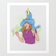 Birds and Birds 2 Art Print