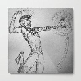 Hugin fighting with magic Metal Print