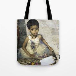 Varanasi little girl Tote Bag