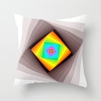 quilt Throw Pillows featuring Digital Quilt by Take F1ve