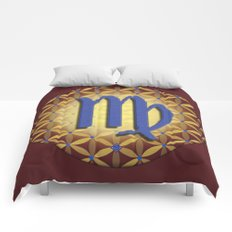 Flower of Life VIRGO Astrology Design Comforters