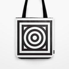 Stripes Circle Square Black & White Tote Bag