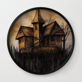 The Yellow House Wall Clock