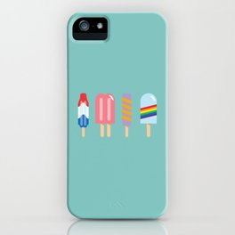Popsicles - Four Pack Teal #835 iPhone Case