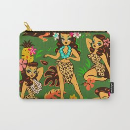 Tiki Temptress on Green Carry-All Pouch