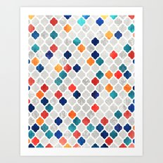 Sea & Spice Moroccan Pattern Art Print
