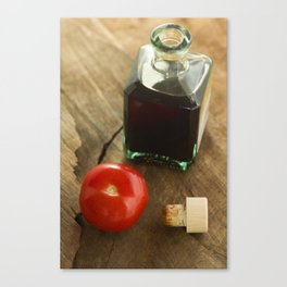 Dark Balsamic Vinegar Rustic Canvas Print