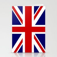 british flag Stationery Cards featuring British Union Flag by PICSL8