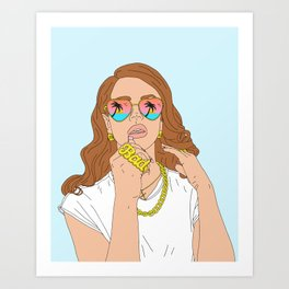 Chill Please Art Print