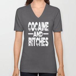 Cocaine And Sluts Unisex V-Neck
