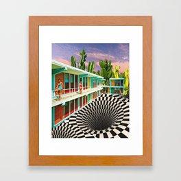 Time Warp Motel Framed Art Print