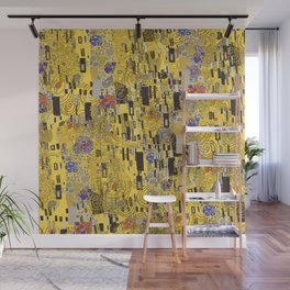 Gold Explosion Wall Mural