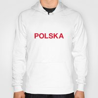 poland Hoodies featuring POLAND by eyesblau