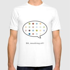 Damien Hirst, outspoken again! Mens Fitted Tee White MEDIUM