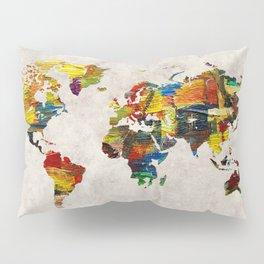 World Map 44 Pillow Sham