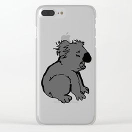 The amusing koala Clear iPhone Case