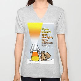 seeing a different light Unisex V-Neck