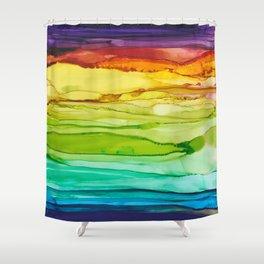 Euphoria Rainbow Art Print Shower Curtain