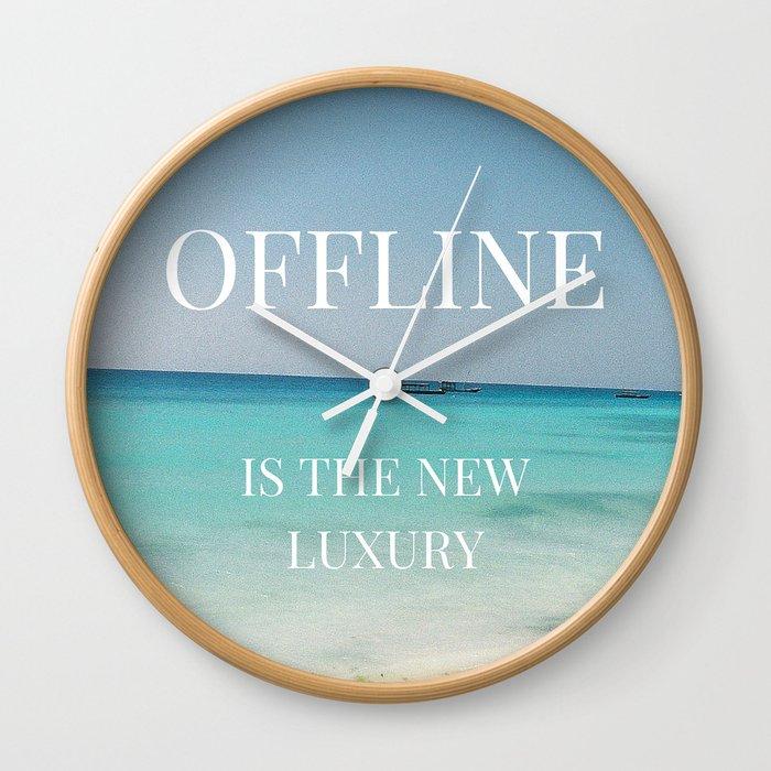 Offline Is The New Luxury Wall Clock By Gypsyrova Society6