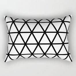 Black Triangle Pattern 2 Rectangular Pillow