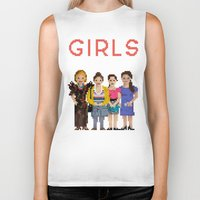 girls Biker Tanks featuring Girls by Sy Graham