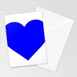 Heart (Blue & White) Stationery Cards