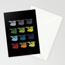 Neon Pop Art Retro Sloth Animal Gift Stationery Cards