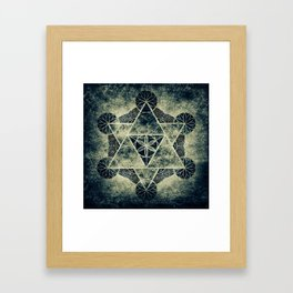 Sacred Geometry for your daily life -  Platonic Solids - IGNIS Framed Art Print