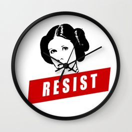 Princess Leia RESIST Star War black white red join the resistance Wall Clock