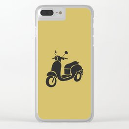 Motor Scooter - Mustard Clear iPhone Case