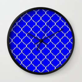 Quatrefoil - Blue Wall Clock