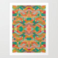 Aztek Pattern Art Print