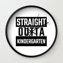 Kinder Babe Shirt Crew Art Yoga Teacher Kinders Kindergarden Kindergarten Kids Wall Clock
