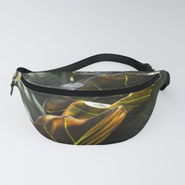 Lime Stripes  //  Alocasia Regal Shields Fanny Pack