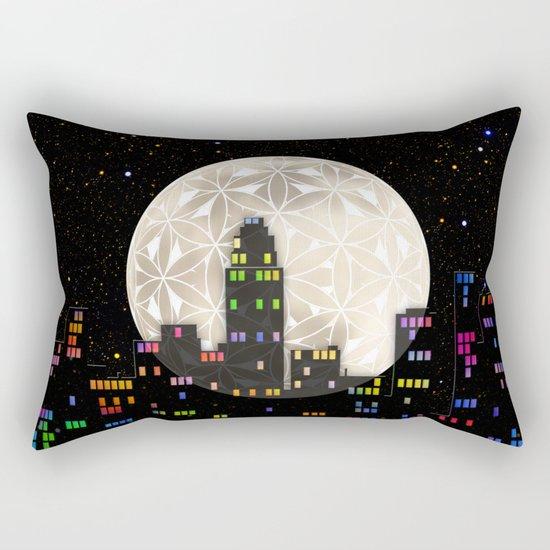 The Flower of Life Moon Rectangular Pillow