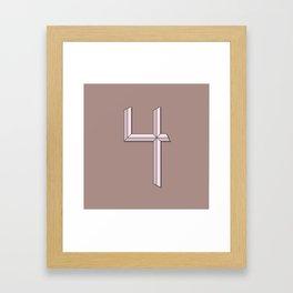 Number 4 - 36 Days of Type  Framed Art Print