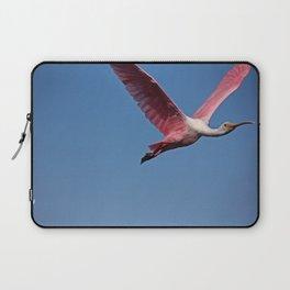 Roseate Spoonbill in Flight III Laptop Sleeve