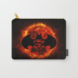 BAT MAN - SUPERMAN Carry-All Pouch