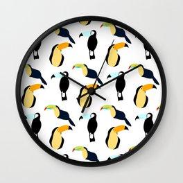 Toucan Pattern Wall Clock