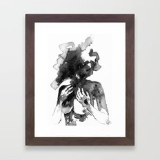 too much to handle on my own Framed Art Print