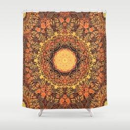 Marigold Mandala Shower Curtain