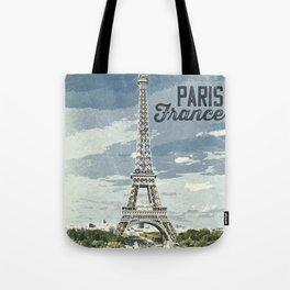 Paris, France / Vintage style poster Tote Bag