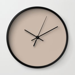 Chrysalis Nature Neutral / Tan / Khaki Solid Color Pairs To Sherwin Williams Bona Fide Beige SW 6065 Wall Clock