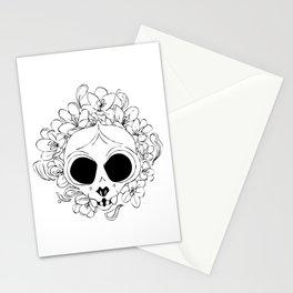 Crocus skull Stationery Cards